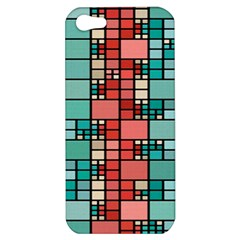 Red And Green Squares Apple Iphone 5 Hardshell Case