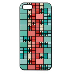 Red And Green Squares Apple Iphone 5 Seamless Case (black)