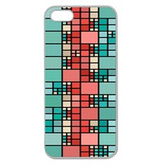 Red And Green Squares Apple Seamless Iphone 5 Case (clear)