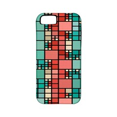Red And Green Squares Apple Iphone 5 Classic Hardshell Case (pc+silicone)