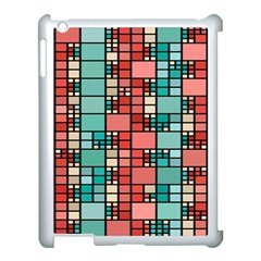 Red And Green Squares Apple Ipad 3/4 Case (white)