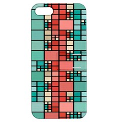 Red And Green Squares Apple Iphone 5 Hardshell Case With Stand