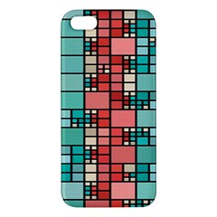 Red And Green Squares Apple Iphone 5 Premium Hardshell Case