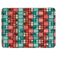 Red And Green Squares Samsung Galaxy Tab 7  P1000 Flip Case