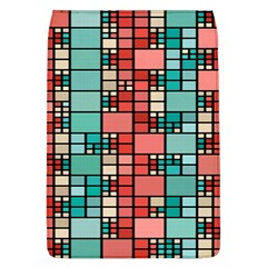 Red And Green Squares Removable Flap Cover (large)
