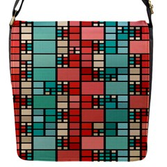 Red And Green Squares Removable Flap Cover (small)