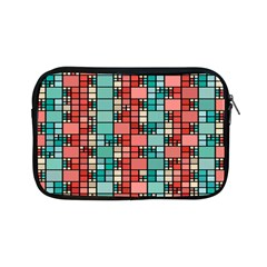 Red And Green Squares Apple Ipad Mini Zipper Case