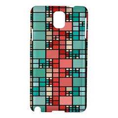 Red And Green Squares Samsung Galaxy Note 3 N9005 Hardshell Case