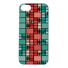 Red And Green Squares Apple Iphone 5s Hardshell Case