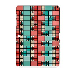 Red And Green Squares Samsung Galaxy Tab 2 (10 1 ) P5100 Hardshell Case