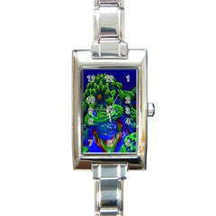 Abstract 1x Rectangular Italian Charm Watch by icarusismartdesigns