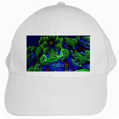 Abstract 1x White Baseball Cap