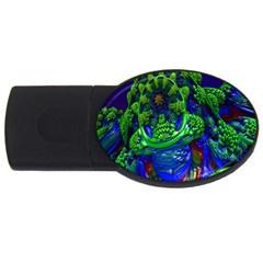 Abstract 1x 4gb Usb Flash Drive (oval) by icarusismartdesigns