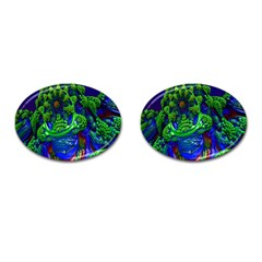 Abstract 1x Cufflinks (oval) by icarusismartdesigns