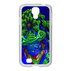 Abstract 1x Samsung Galaxy S4 I9500/ I9505 Case (white)