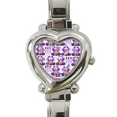 Fms Honey Bear With Spoons Heart Italian Charm Watch  by FunWithFibro