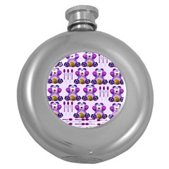 Fms Honey Bear With Spoons Hip Flask (round) by FunWithFibro