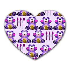 Fms Honey Bear With Spoons Mouse Pad (heart) by FunWithFibro
