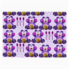 Fms Honey Bear With Spoons Glasses Cloth (large, Two Sided) by FunWithFibro