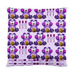 Fms Honey Bear With Spoons Cushion Case (two Sided)  by FunWithFibro