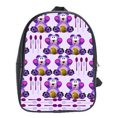 Fms Honey Bear With Spoons School Bag (large) by FunWithFibro