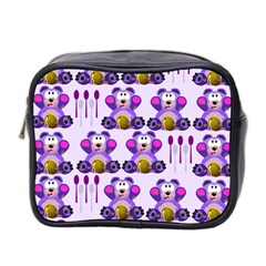 Fms Honey Bear With Spoons Mini Travel Toiletry Bag (two Sides) by FunWithFibro
