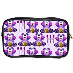 Fms Honey Bear With Spoons Travel Toiletry Bag (one Side) by FunWithFibro