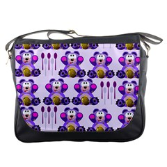 Fms Honey Bear With Spoons Messenger Bag by FunWithFibro