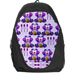 Fms Honey Bear With Spoons Backpack Bag by FunWithFibro