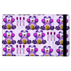 Fms Honey Bear With Spoons Apple Ipad 3/4 Flip Case by FunWithFibro