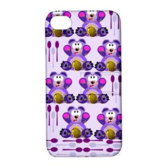 Fms Honey Bear With Spoons Apple Iphone 4/4s Hardshell Case With Stand by FunWithFibro
