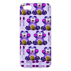Fms Honey Bear With Spoons Apple Iphone 5 Premium Hardshell Case by FunWithFibro