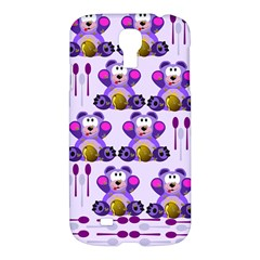 Fms Honey Bear With Spoons Samsung Galaxy S4 I9500/i9505 Hardshell Case by FunWithFibro