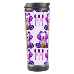 Fms Honey Bear With Spoons Travel Tumbler by FunWithFibro
