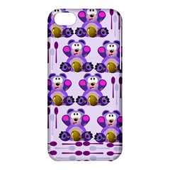 Fms Honey Bear With Spoons Apple Iphone 5c Hardshell Case by FunWithFibro