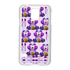 Fms Honey Bear With Spoons Samsung Galaxy S5 Case (white) by FunWithFibro