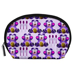 Fms Honey Bear With Spoons Accessory Pouch (large) by FunWithFibro