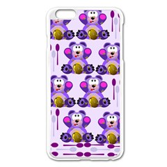 Fms Honey Bear With Spoons Apple Iphone 6 Plus Enamel White Case by FunWithFibro
