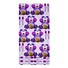 Fms Honey Bear With Spoons Shower Curtain 36  X 72  (stall) by FunWithFibro