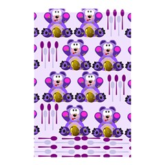 Fms Honey Bear With Spoons Shower Curtain 48  X 72  (small) by FunWithFibro
