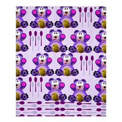 Fms Honey Bear With Spoons Shower Curtain 60  X 72  (medium) by FunWithFibro