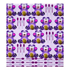 Fms Honey Bear With Spoons Shower Curtain 66  X 72  (large) by FunWithFibro