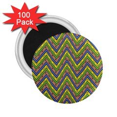 Zig Zag Pattern 2 25  Magnet (100 Pack)  by LalyLauraFLM
