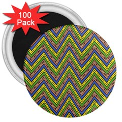 Zig Zag Pattern 3  Magnet (100 Pack) by LalyLauraFLM