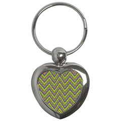 Zig Zag Pattern Key Chain (heart)
