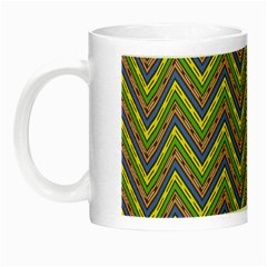 Zig Zag Pattern Night Luminous Mug by LalyLauraFLM