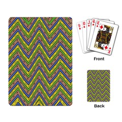 Zig Zag Pattern Playing Cards Single Design