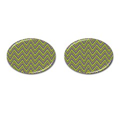 Zig Zag Pattern Cufflinks (oval) by LalyLauraFLM
