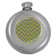Zig Zag Pattern Hip Flask (5 Oz) by LalyLauraFLM