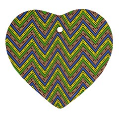 Zig Zag Pattern Heart Ornament (two Sides) by LalyLauraFLM